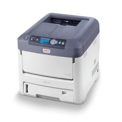 Oki - Imprimante toner blanc A4